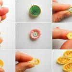 Как сделать цветы из квиллинга на фото