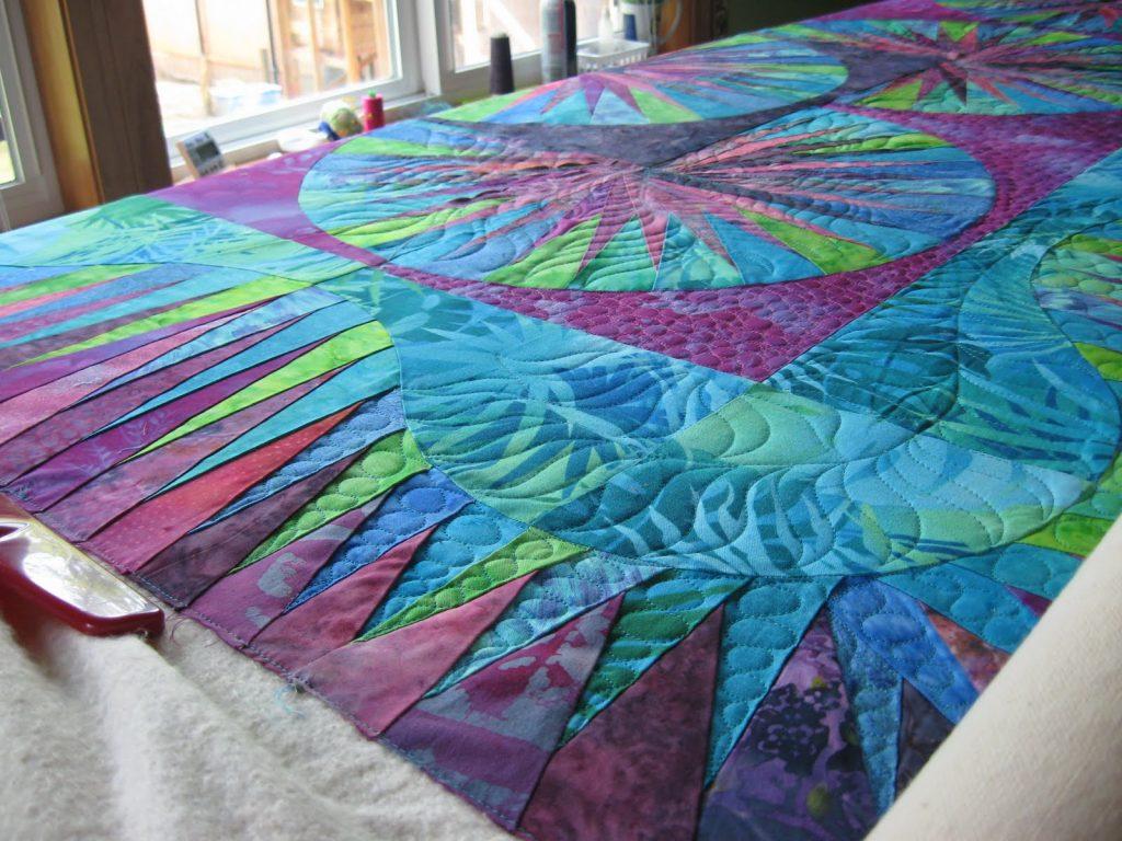 фиолетовое одеяло самодельное