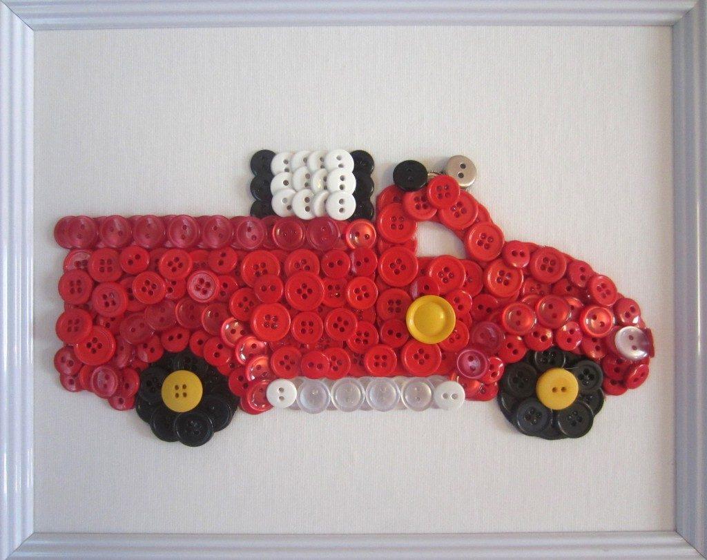 Машина из пуговиц