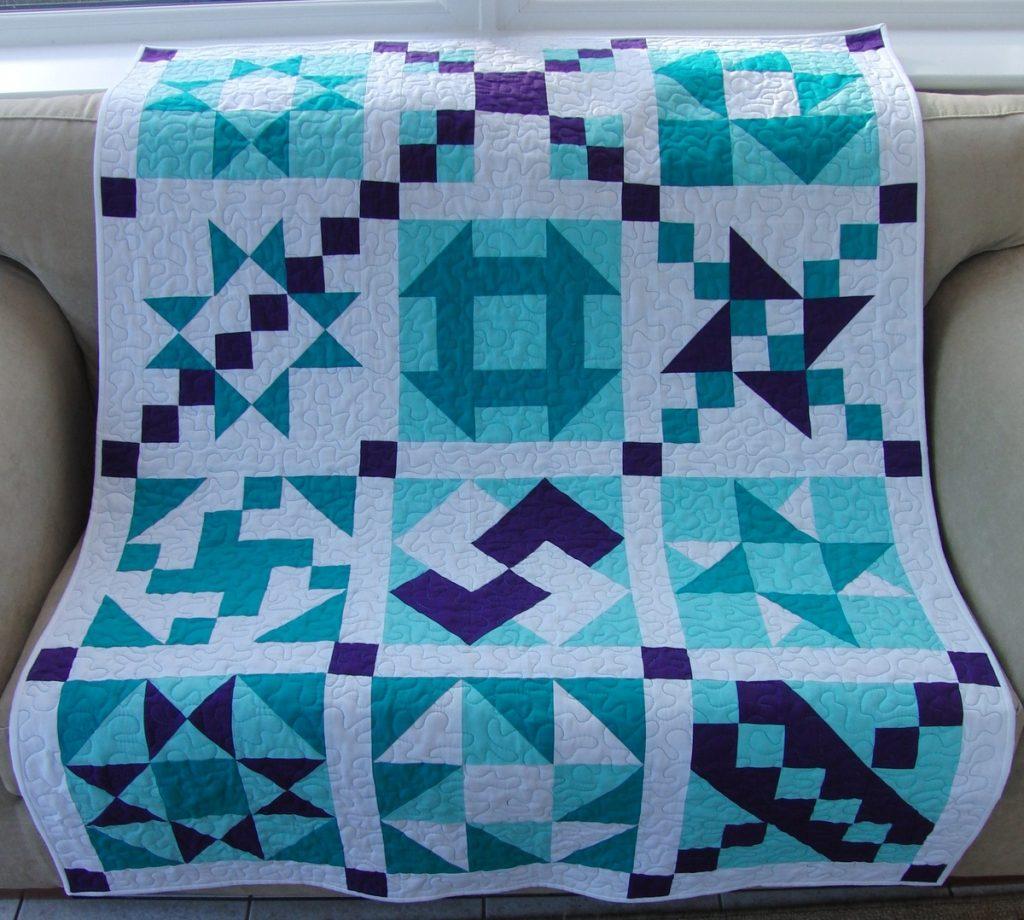 Одеяло в стиле лоскутов