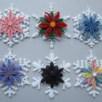Варианты снежинок в стиле квиллинг
