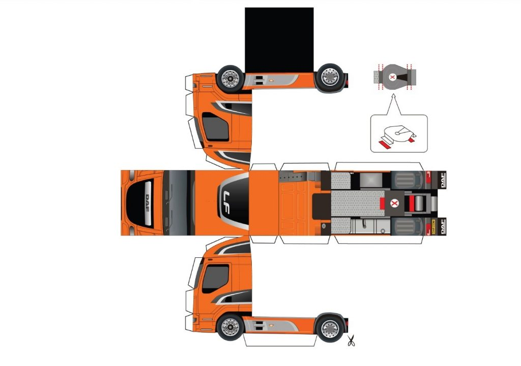 Бумажные модели грузовика