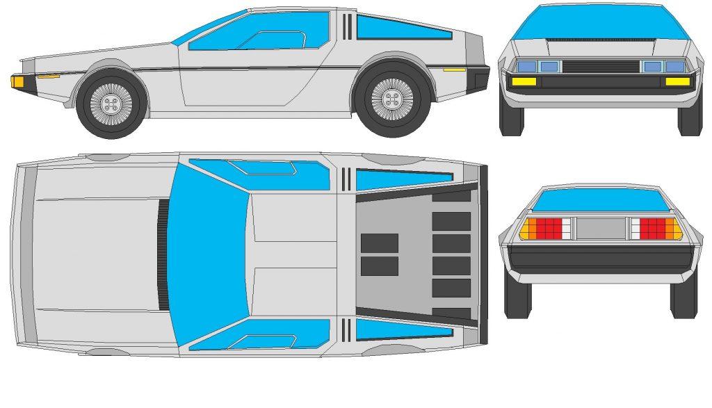 Delorean Car Paper