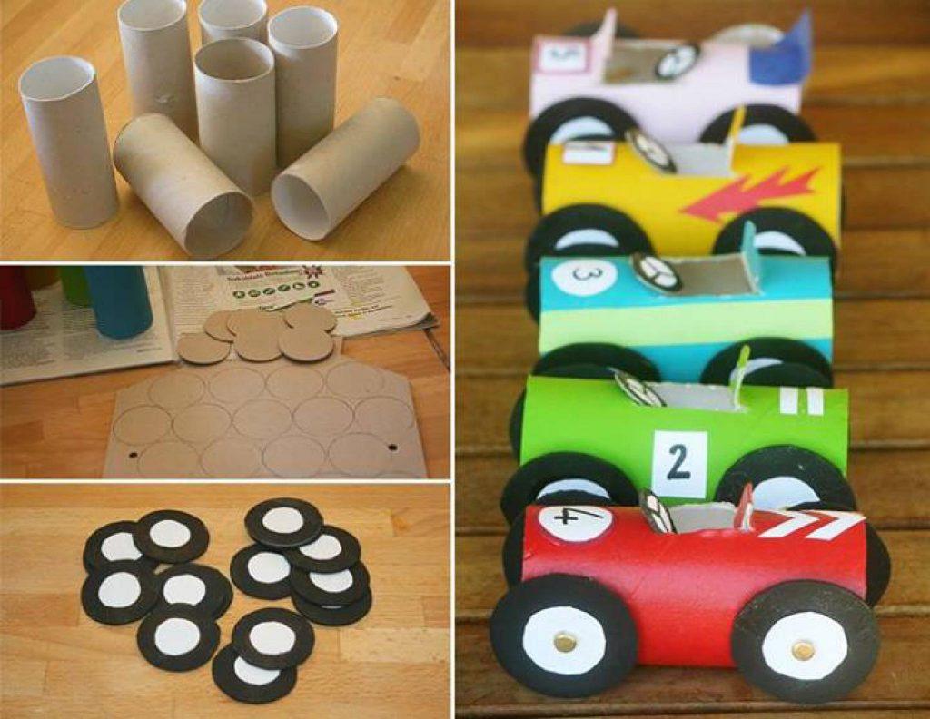 Изготовление машинок из бумаги