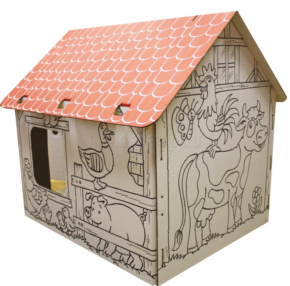 Картонный домик своими руками фото