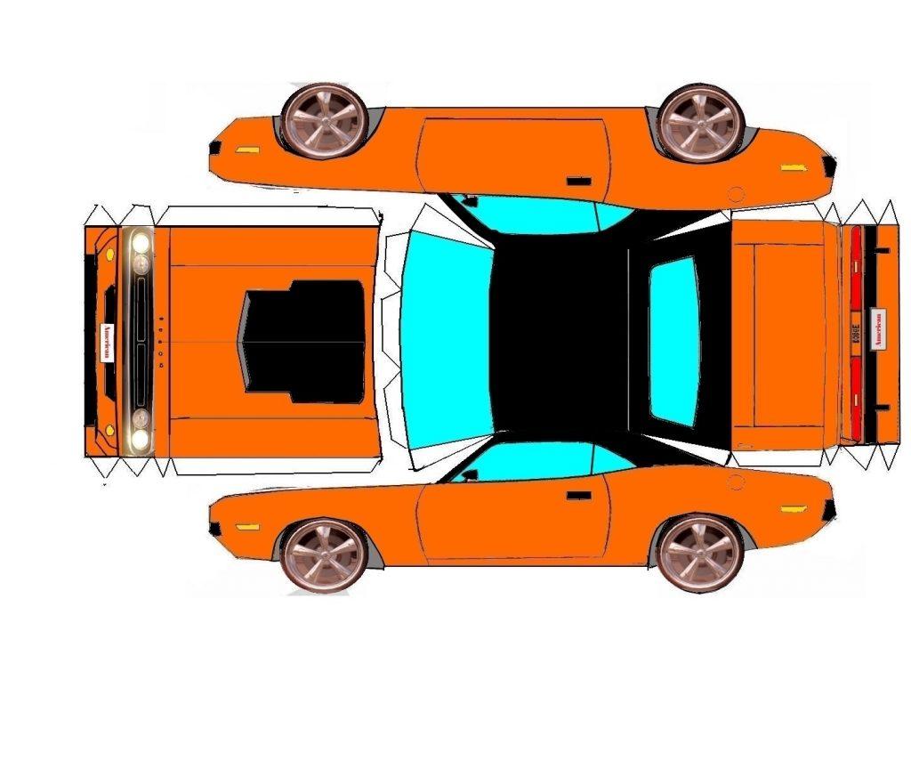 Машины из бумаги схемы модель