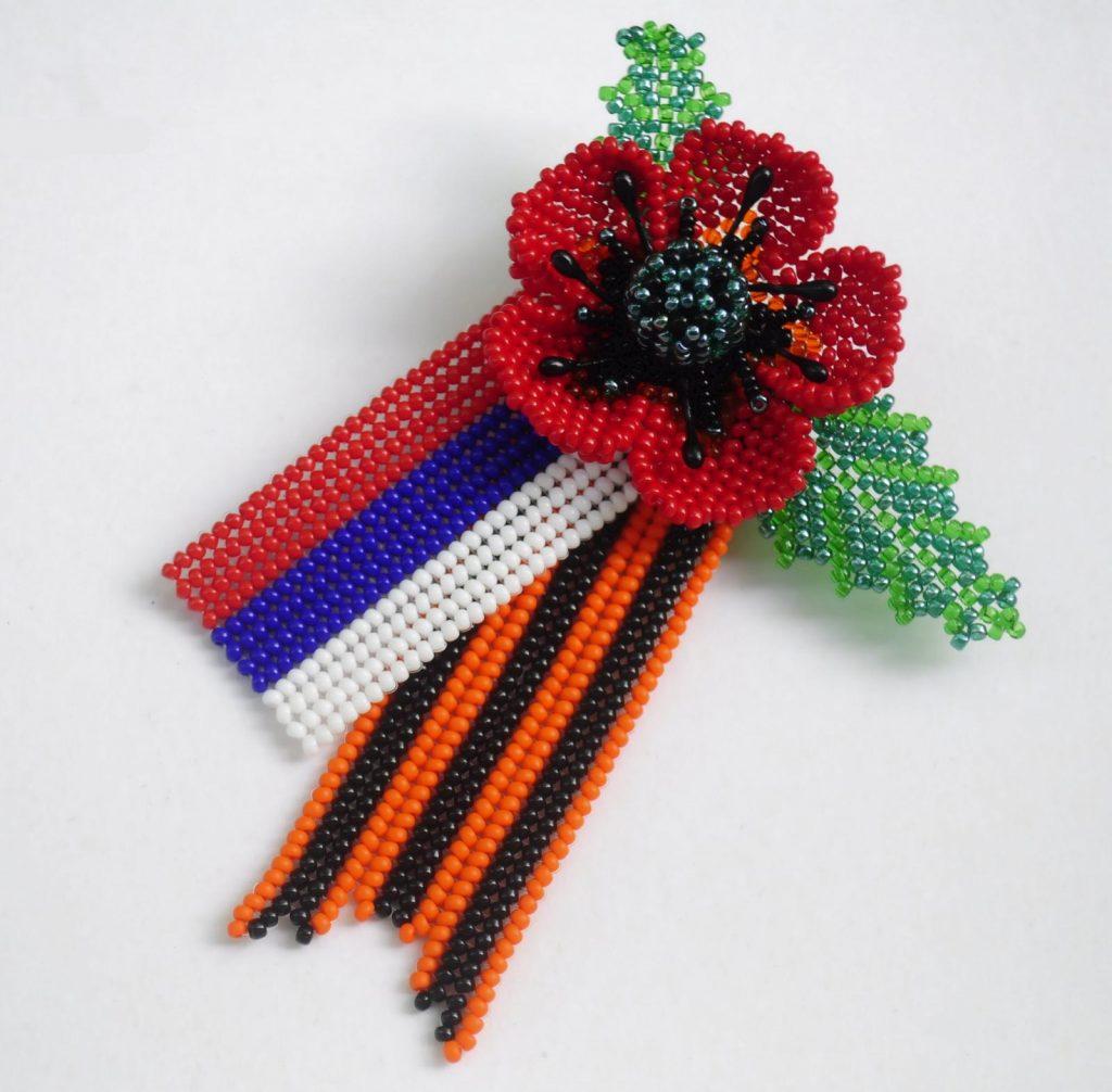 Плетение Георгиевской ленты из бисера к Дню Победы
