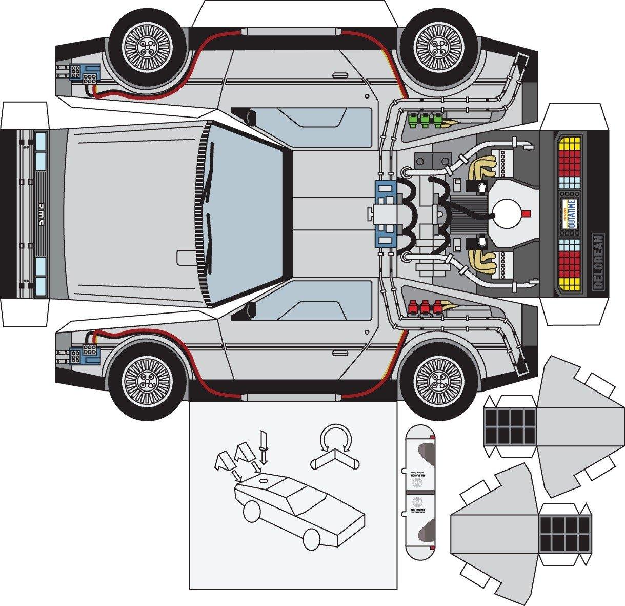 Инструкция как сделать машину из бумаги фото