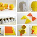 Цыпленок из упаковки из под яиц