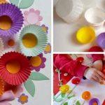 Открытка с цветами из кексов