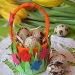 Корзинка для яиц из фетра