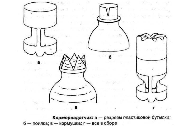 Кормораздатчик из пластиковой бутылки