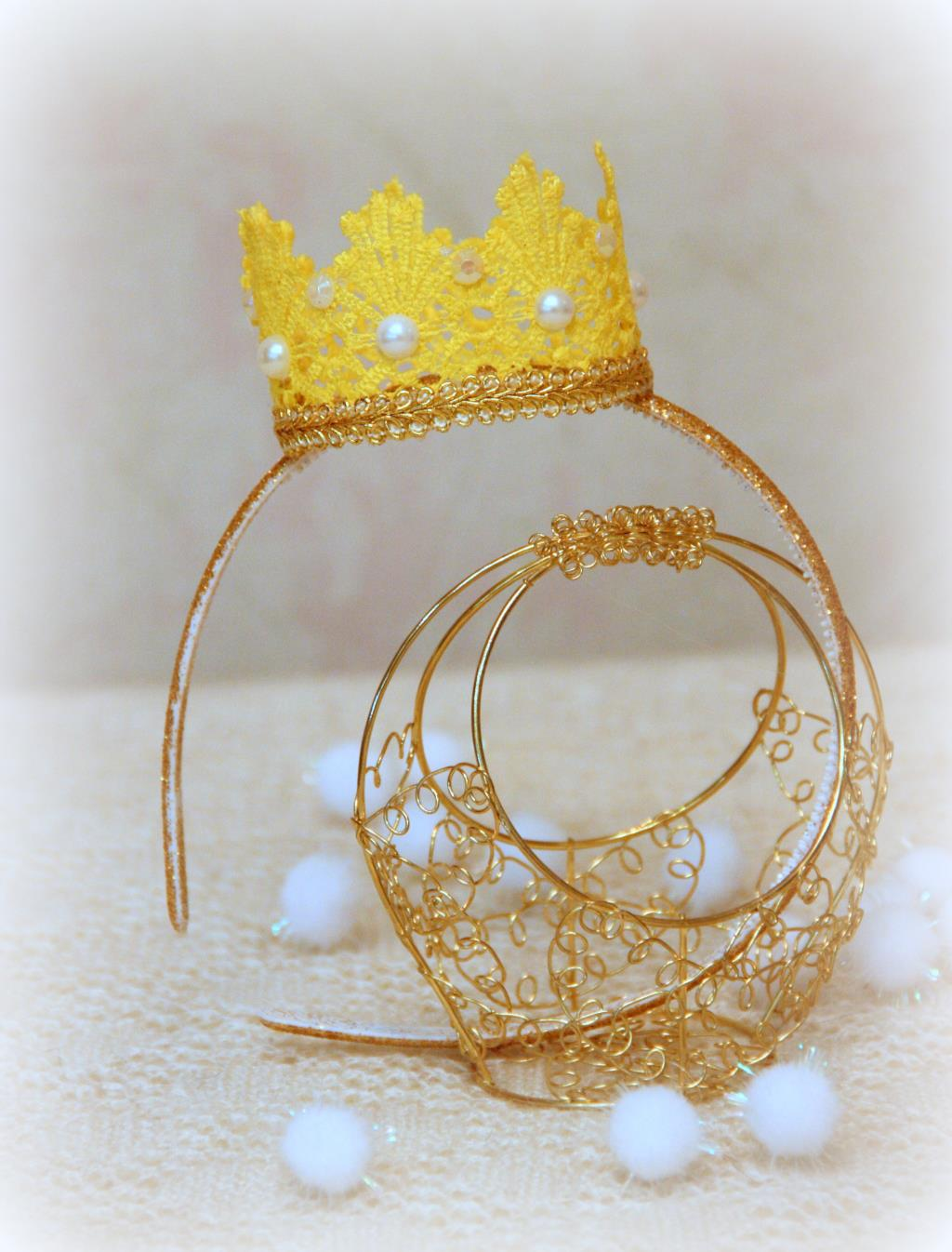 ободок с короной своими руками фото один раз увидеть
