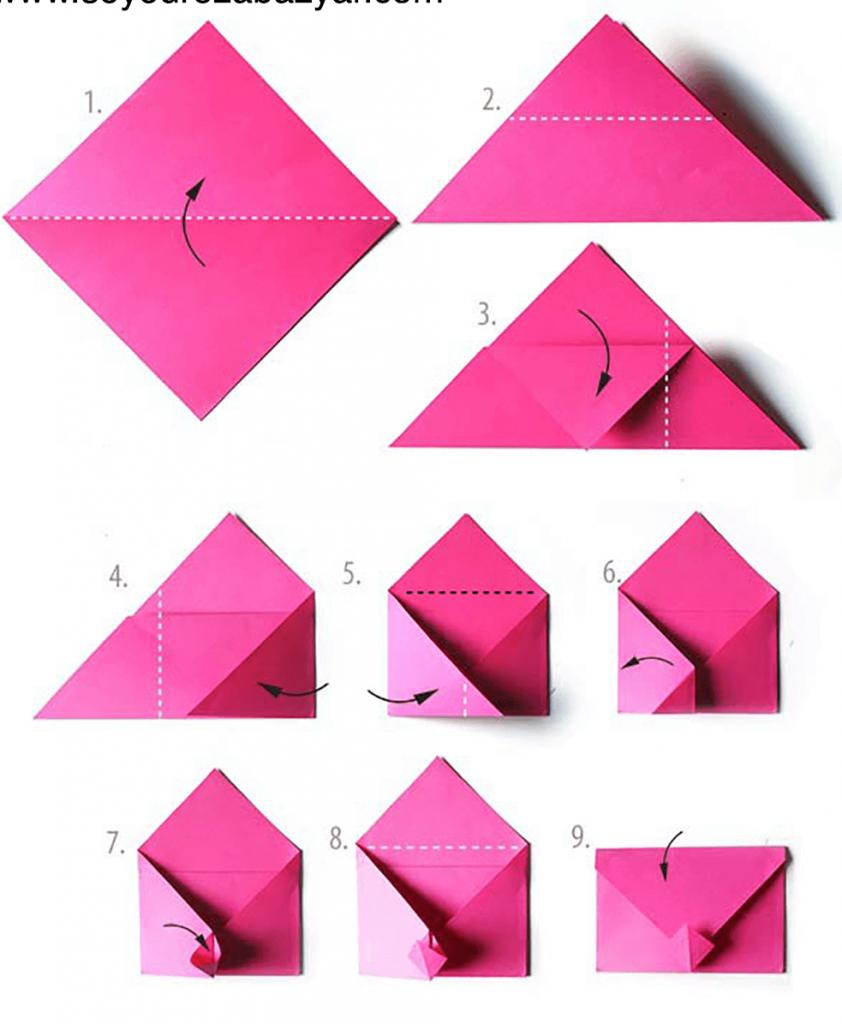 Конверт из бумаги своими руками поэтапно фото для начинающих фото 384