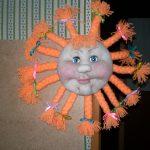 Необычное солнце поделка