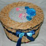 Плетенная шкатулка