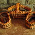 Плетенные корзины на фото