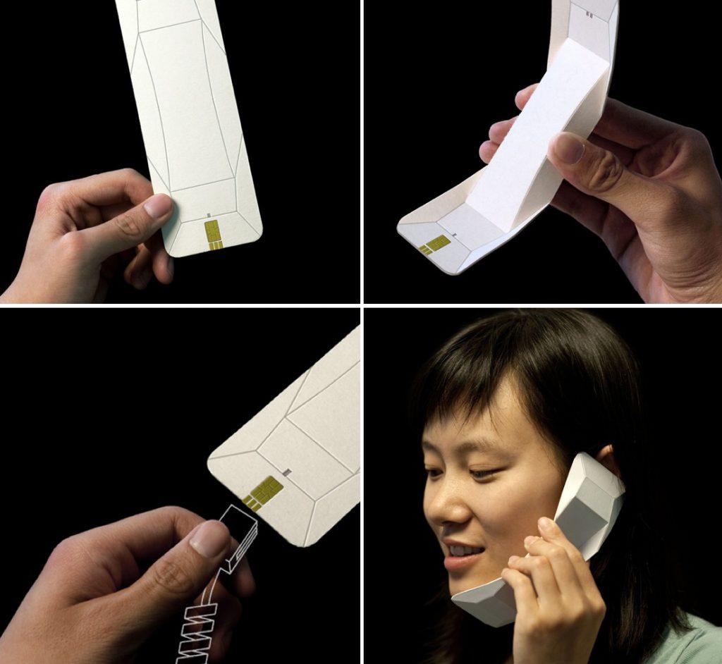 Раскладной телефон из бумаги