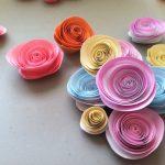 Пример создания розы из жесткой бумаги