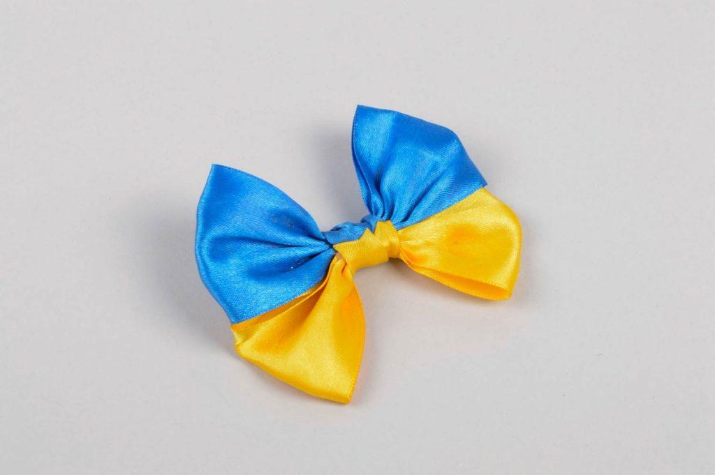 Сине-желтый бант