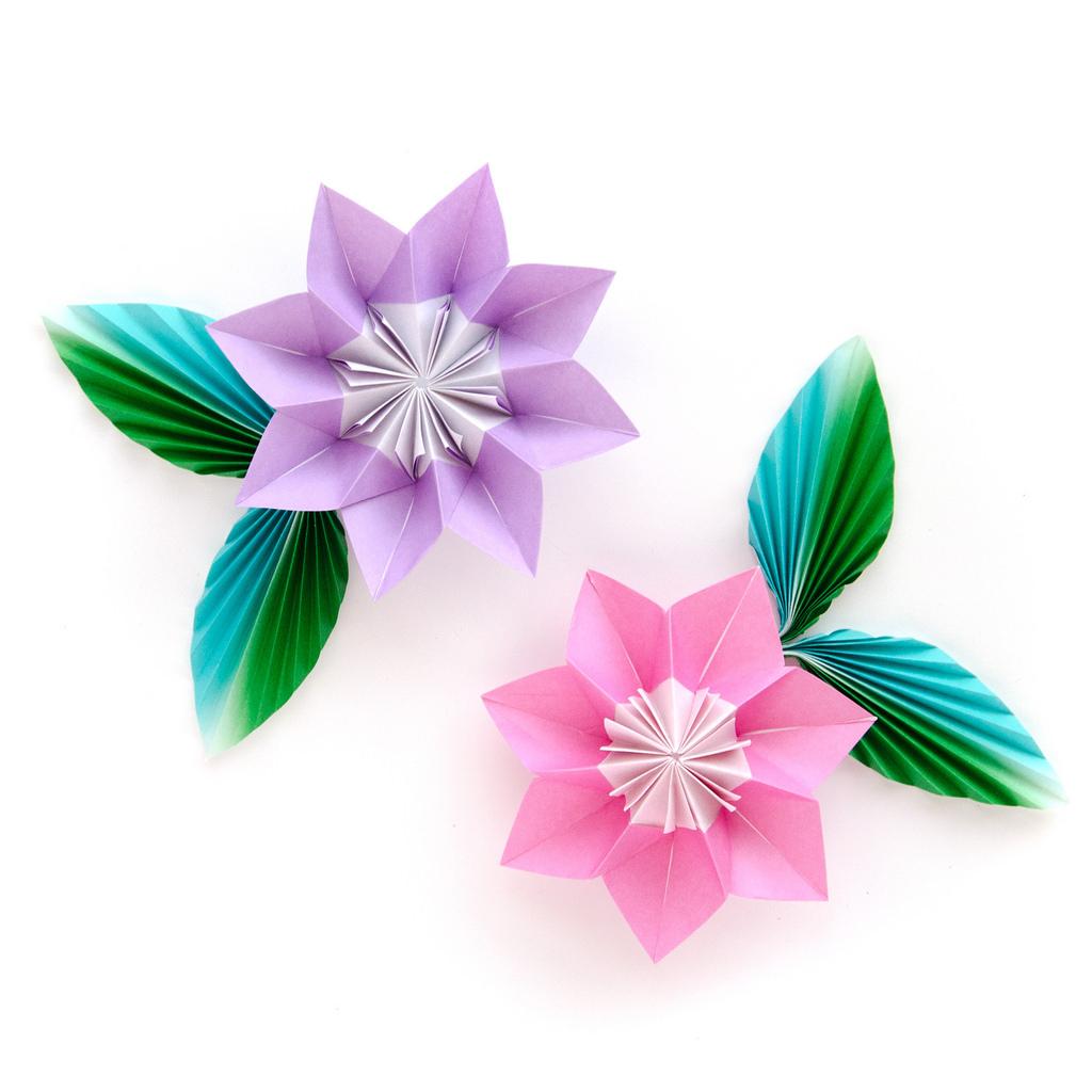 Поделка цветов оригами