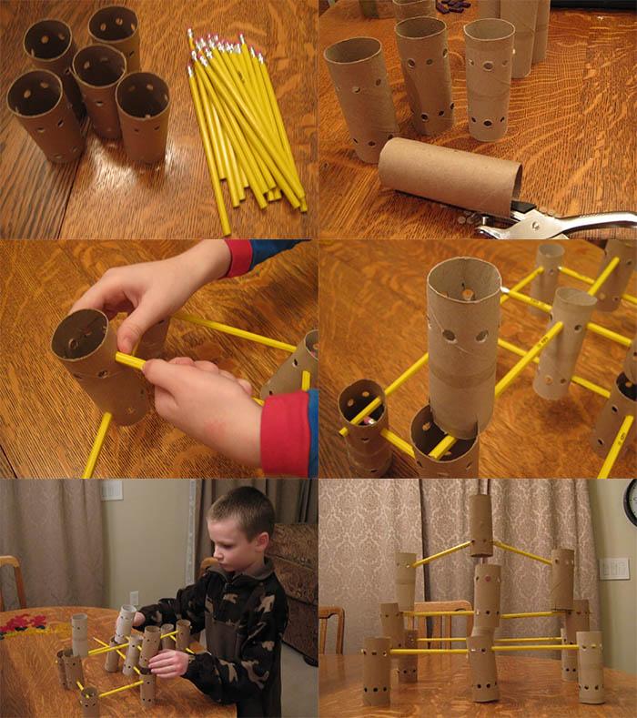 Башня из втулок для мальчишек