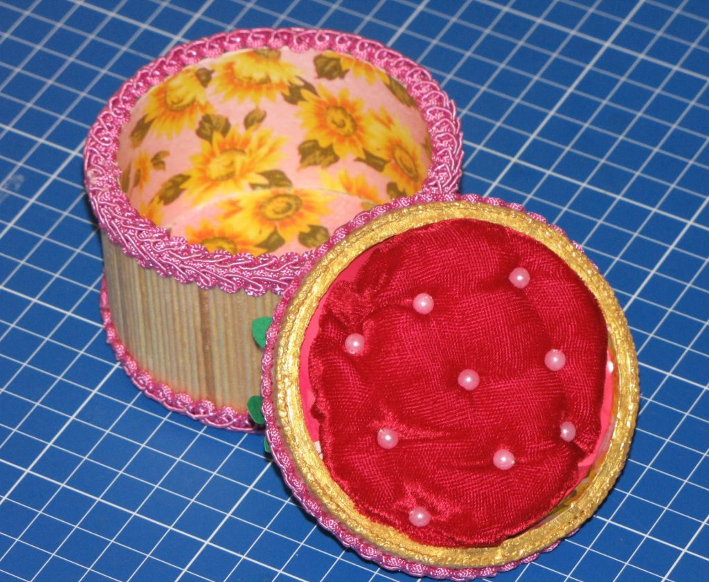 Пример работы шкатулки из зубочисток