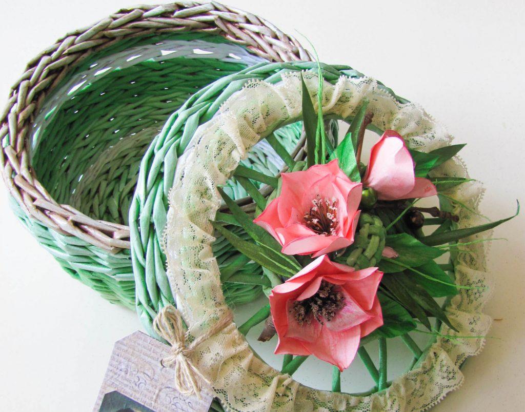 Красивая шкатулка с розами