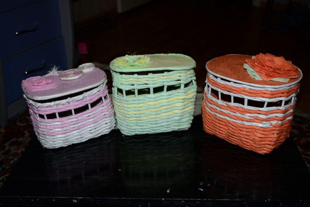 Плетенные шкатулки