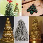 Еще несколько вариантов как сделать елку из макарон
