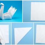 Лебедь из салфетки 1