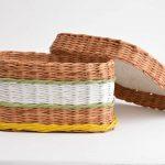 Короб с крышкой из плетения