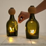 Поделки из стеклотары светильник