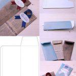 Схема подарочного конверта
