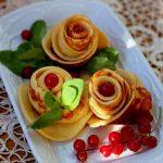 Роза из блинов красивое блюдо
