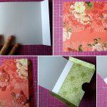 Схема подарочного конверта пошагово