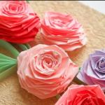 Роза поделка из гофрированной бумаги