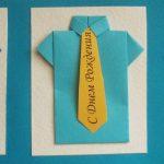 Открытка рубаха с галстуком