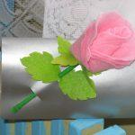Роза из фетра