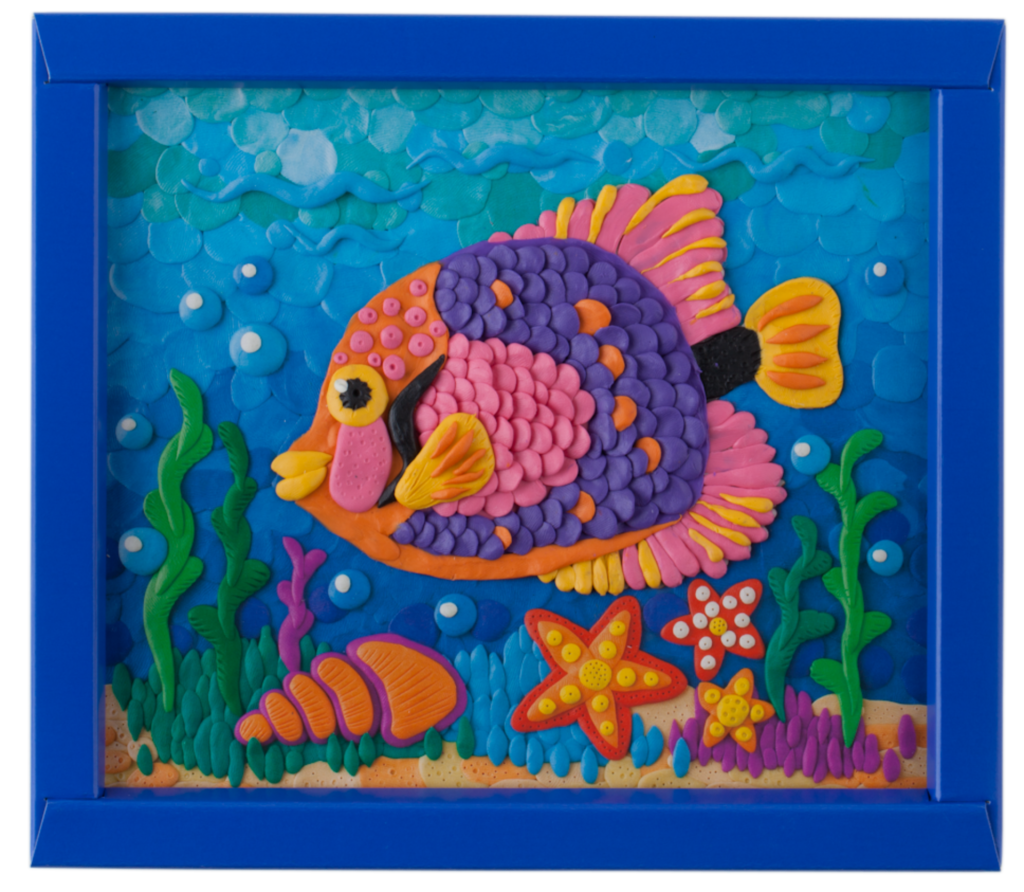 Рыбка из пластилина картина