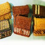 Плетенные сундучки на фото
