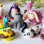 Фигурки животных из глины