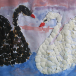 поделка двх лебедей