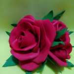 Роза из полимерной глиы