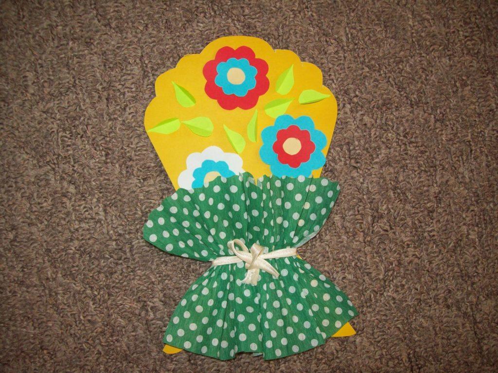 Поделка букет цветов для бабушки