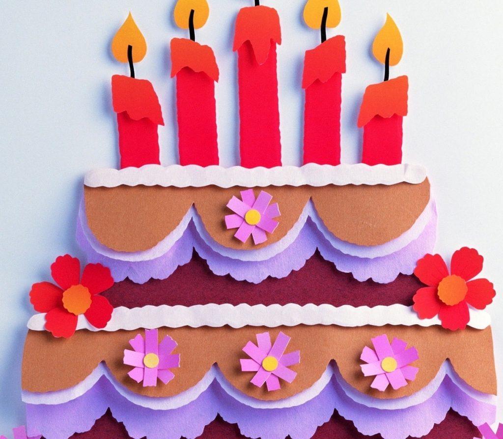 Аппликация большой торт