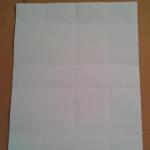 У нас получается 16 равных прямоугольника. Если, мы будем делить лист таким образом, в итоге у нас получится большой объемный лебедь. А если, мы этот же сложенный лист поделим на 32 прямоугольника. То есть, длинную сторону листа складываем на 8 частей как на схеме. | Оригинал: http://svoimi-rukami-club.ru/модульное-оригами-лебедь-из-модулей/