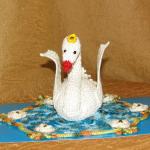 Лебеди в технике оригами