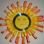 Солнце из бумаги и диска