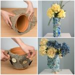 Декор кашпо для цветов